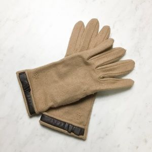 Ralph Lauren Wool Cashmere Blend Gloves